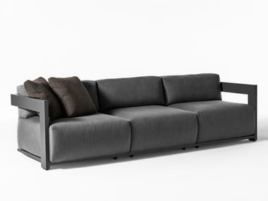 Canapé modulable en tissu avec revêtement amovible CLAUD