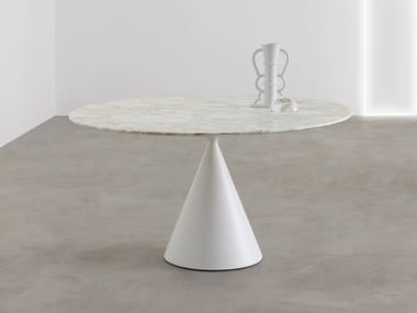 Round Calacatta Oro marble table CLAY | Round table
