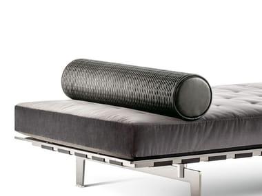 Roll leather cushion CLAYTON | Cushion