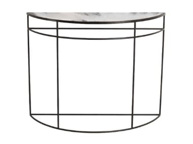 Demilune metal console table CLEAR HALF-MOON
