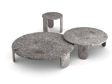 Tavolino rotondo in marmo CLEMO