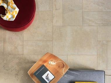 Pavimento/rivestimento antibatterico effetto pietra CLIFFSTONE BEIGE MADEIRA