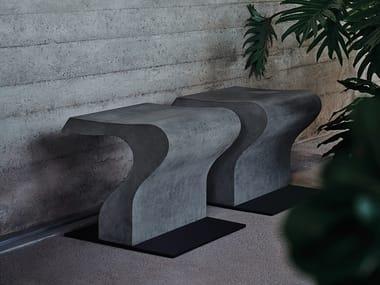 Seduta per interni / esterni in cemento CLIZIA