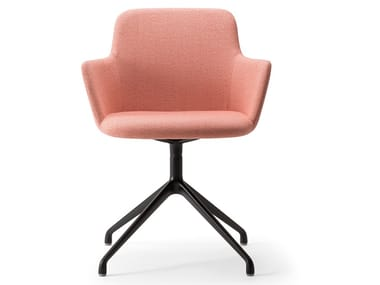 Upholstered chair with armrests CLOE' ARMCHAIR | Upholstered chair