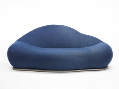 Curved 2 seater fabric sofa CLOUD