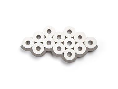Porte-rouleau de rechange en béton fibré CLOUD | Porte-rouleau de rechange