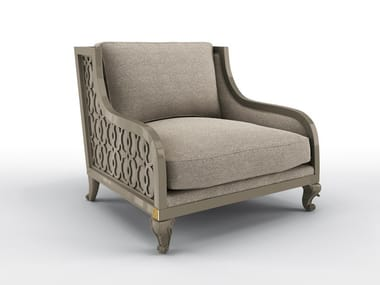 Fabric armchair with armrests CLUB WIDE   Armchair