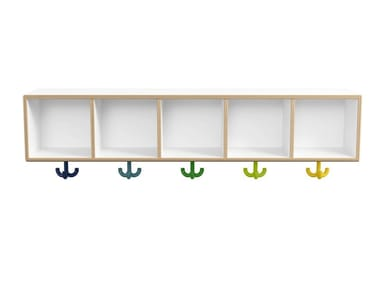 Wall-mounted multi-layer wood coat rack for children KIDS | Coat rack