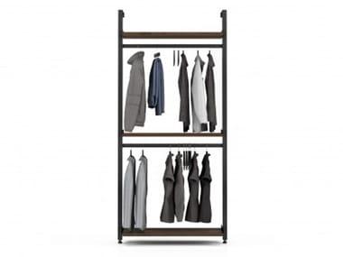 Wall-mounted aluminium coat rack GRAVITY | Coat rack