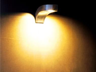 Lampada da parete a luce diretta in acciaio inox COBRA WALL