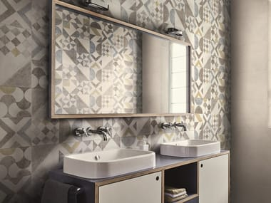 Indoor wall tiles with encaustic effect COCCIOPESTO | Wall tiles