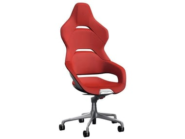 High-back leather office chair COCKPIT | High-back office chair