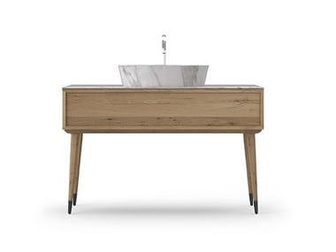 Single oak vanity unit COCÒ 028/1 | Vanity unit