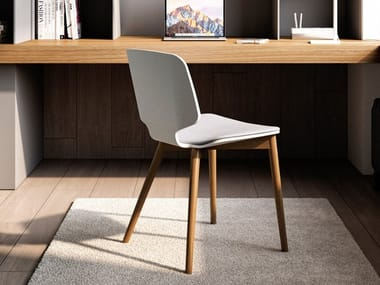 Multi-layer wood chair with integrated cushion CODE | Multi-layer wood chair