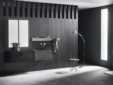 Wall-mounted vanity unit with drawers CODE WAVE 07