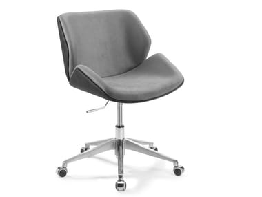 Swivel chair with 5-spoke base with casters CODOGNÈ | Swivel chair