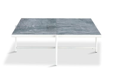 Low square powder coated steel coffee table 90 | Coffee table