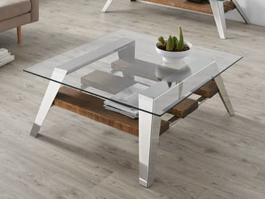 Contemporary style low glass coffee table for living room NORDIC | Coffee table