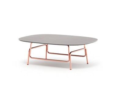 Tavolino rettangolare in pietra sinterizzata KAPOOR | Tavolino