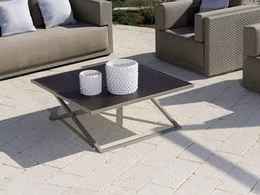 Square aluminium garden side table ZOE | Coffee table