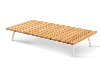 Tavolino rettangolare in alluminio e legno 239 FENC-E NATURE | Tavolino