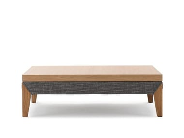 Low rectangular wooden coffee table MOOVE | Coffee table