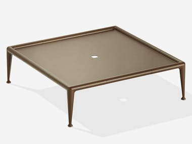Tavolino da giardino quadrato in alluminio NEW JOINT | Tavolino