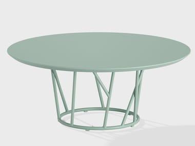 Tavolino da giardino rotondo in alluminio WILD | Tavolino