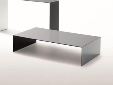 Low rectangular crystal coffee table SIO2 BRIDGE   Coffee table