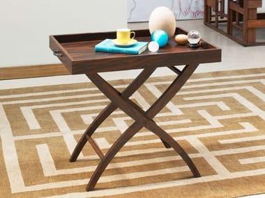 Rectangular coffee table with tray VASSOIA
