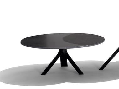 Round aluminium coffee table FIZZ | Coffee table