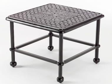 Tavolino da giardino quadrato in alluminio ARTEMIS | Tavolino
