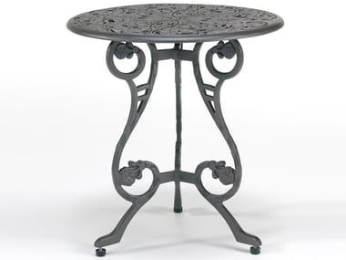 Tavolino da giardino rotondo in alluminio BARRINGTON | Tavolino