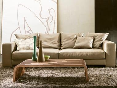 Mesa de centro baixa de madeira maciça MILLERIGHE | Mesa de centro de café