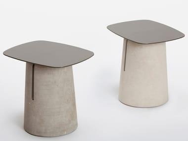 Square stone garden side table PIRO | Coffee table