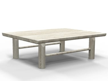 Rectangular teak garden side table HIDDE | Coffee table