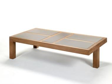 Tavolino basso da giardino rettangolare in ceramica NARA | Tavolino rettangolare