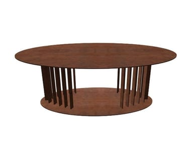 Oval Corten™ coffee table OVOV | Coffee table
