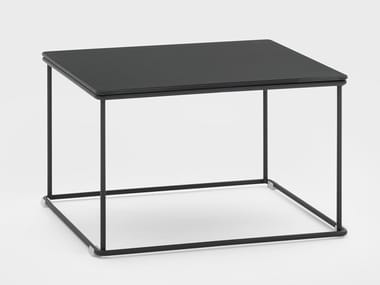 Low square metal bistro side table GEORGE | Coffee table