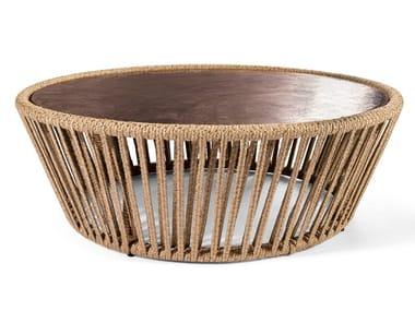 Round hemp garden side table STANKAR   Coffee table