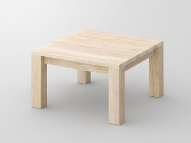 Tavolino basso quadrato in legno massello CUBUS | Tavolino
