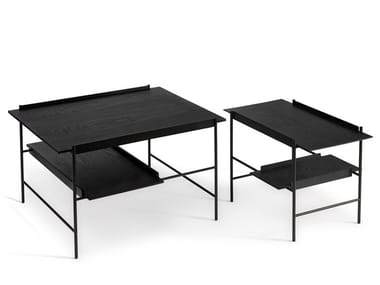 Low powder coated steel coffee table with tray KANSO   Coffee table with tray