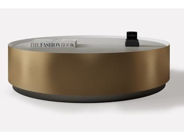 Low round metal coffee table COFRE | Round coffee table