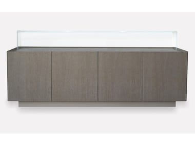 Oak sideboard with doors COFRE | Sideboard