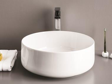 Vasque à poser rond en céramique COGNAC | Lavabo rond