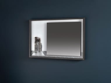 Wall-mounted framed mirror COLLAGE | Rectangular mirror