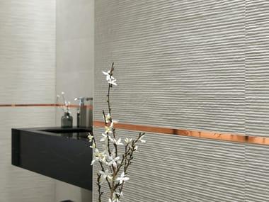 Carrelage 3D en céramique pâte blanche pour intérieur COLOR LINE ROPE | Revêtement mural 3D