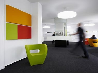 Fabric-based acoustic panels for walls COLORS FIELDS   Decorative acoustical panel