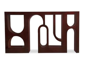 Mesa consola rectangular de madera COLOSSEUM | Mesa consola
