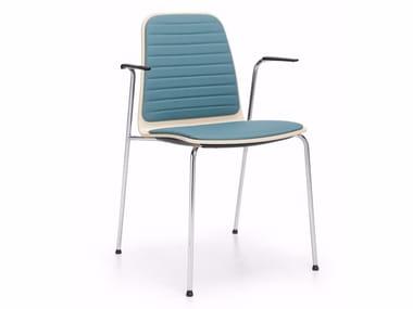 Cadeira de conferência de tecido com braços COM K31H